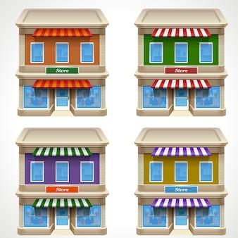 Icona del negozio in diversi colori
