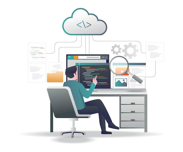 Memorizza molti dati di programmazione sul server cloud