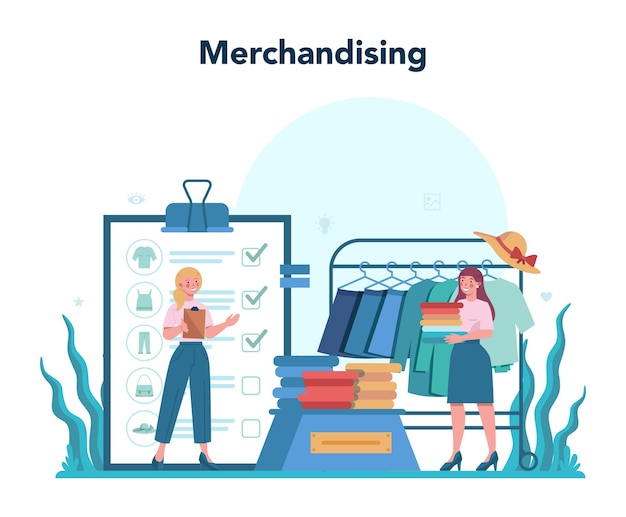 Merchandiser del negozio. designer di negozi e vetrine.