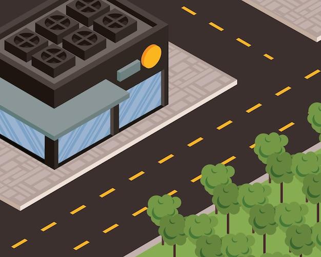 Memorizza la scena di strada