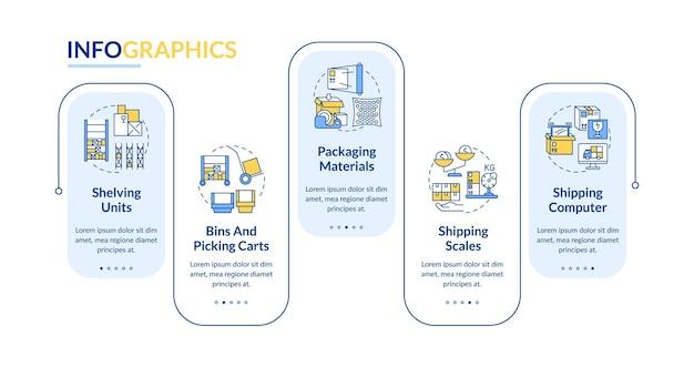 Illustrazione del modello infografico magazzino