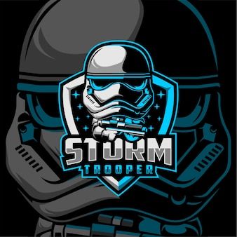 Logo storm trooper