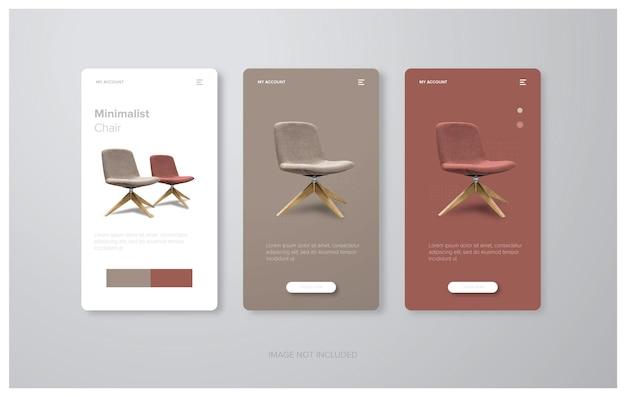 Modello di progettazione di mobili per la raccolta di storie