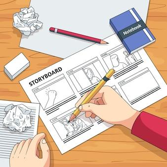 Concetto di storyboard
