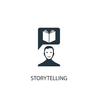 Icona di narrazione. illustrazione semplice dell'elemento. disegno di simbolo del concetto di narrazione. può essere utilizzato per web e mobile.
