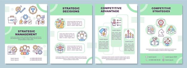 Modello di brochure per la gestione strategica