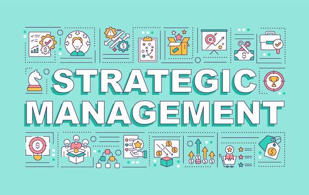 Bandiera di concetti di parola di gestione strategica