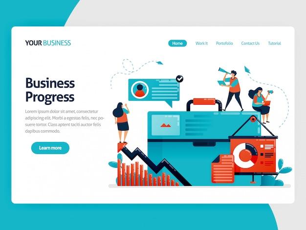 Strategia per aumentare la landing page di crescita aziendale