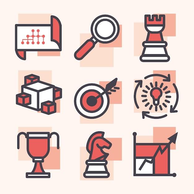 Simboli di strategia e gestione