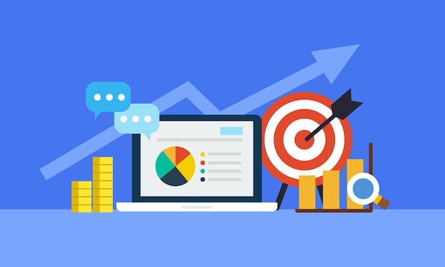 Strategia e resoconto dello shopping online o della campagna online