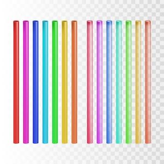 Set di strumenti tubo cannuccia multicolore di paglia