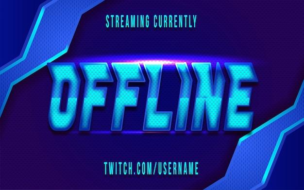 Trasmetti in streaming l'effetto del testo di sfondo della sovrapposizione offline