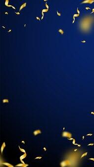 Stelle filanti e coriandoli. stelle filanti dorate orpelli e nastri di alluminio. vignetta di coriandoli