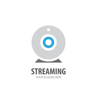 Logo in streaming per azienda. design semplice dell'idea del logo in streaming. concetto di identità aziendale. icona di streaming creativo dalla collezione di accessori.