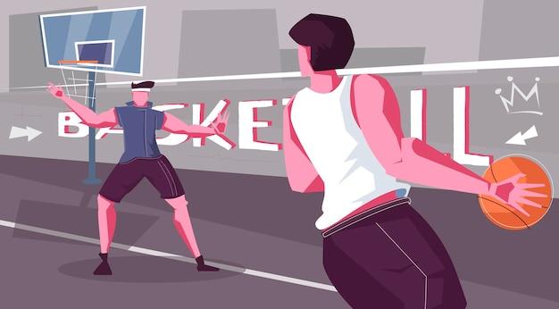 Illustrazione di basket di strada