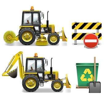 Icone di pulizia della strada