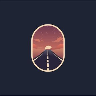 Illustrazione del logo del deserto della strada