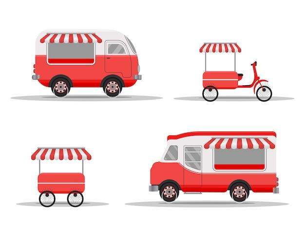 Concetto di camion di cibo di strada.