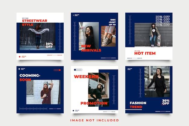 Modello di post sui social media di moda streetwear