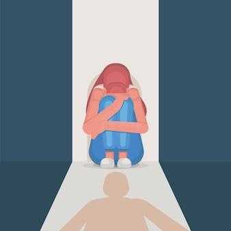 Donna stressata a causa di bullismo e molestie sessuali