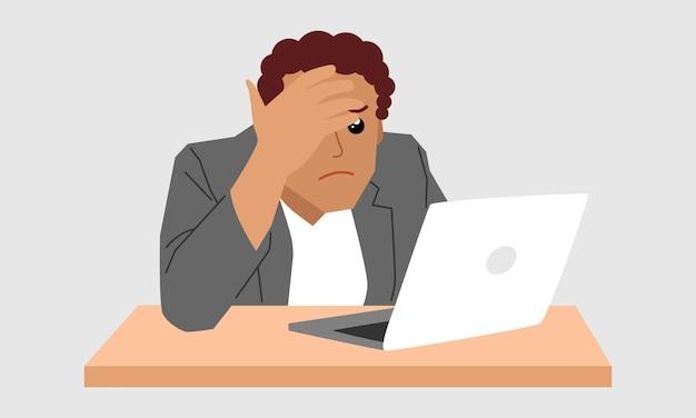 Carattere di uomo d'affari stressante