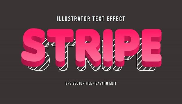 Effetto di testo vettoriale eps modificabile stile striscia di testo
