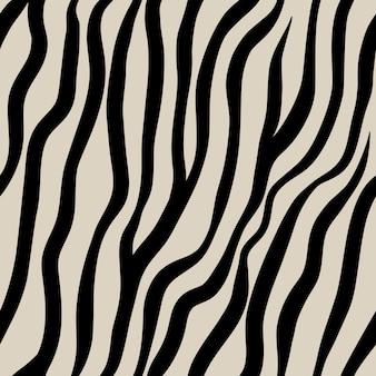 Modello senza cuciture zebra animalesco a strisce