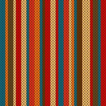 Motivo a righe sulla trama lavorata a maglia di lana.
