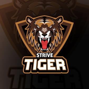 Strive tiger esport logo gaming