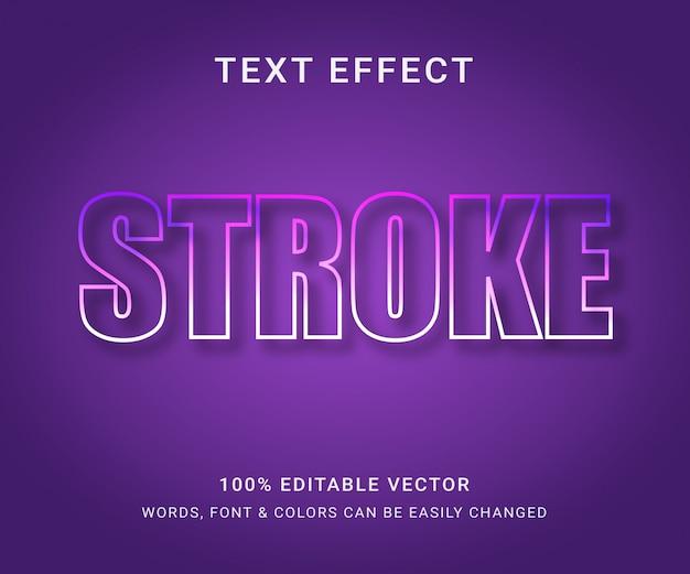 Tratto effetto di testo completamente modificabile