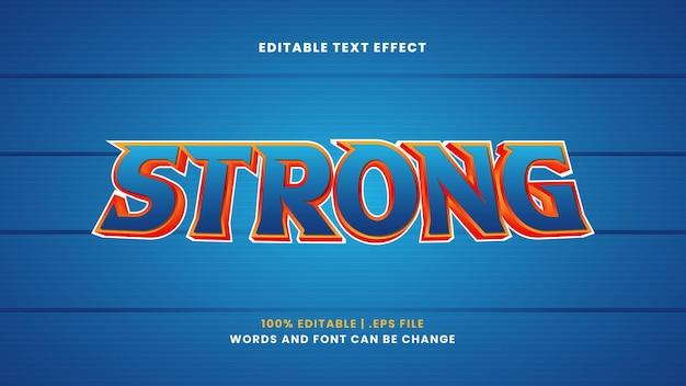 Forte effetto di testo modificabile in moderno stile 3d