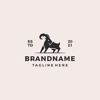 Forte design del logo di capra