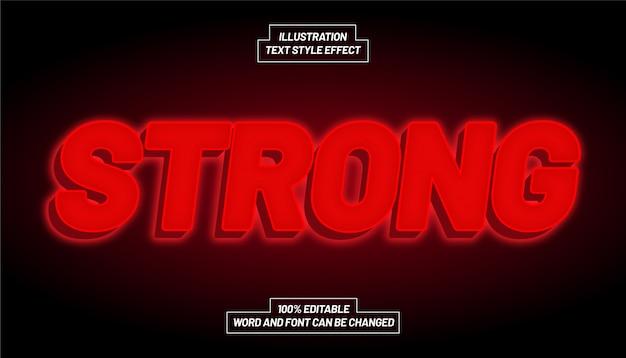 Forte effetto di stile di testo a luce rossa
