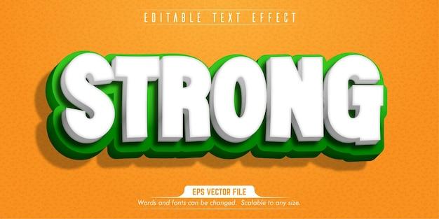 Testo forte, effetto di testo modificabile in stile cartone animato