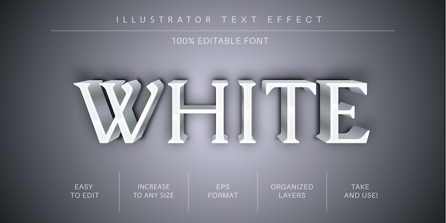 Forte effetto di testo modificabile bianco