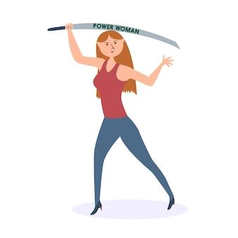 Attacchi di machete donna forte