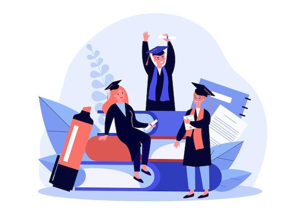 Studenti che celebrano la laurea