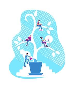 Illustrazione di concetto piatto di educazione degli studenti