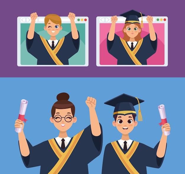 Studenti laureati in pagine web