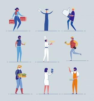 Set di caratteri per studenti, anziani e professionisti.