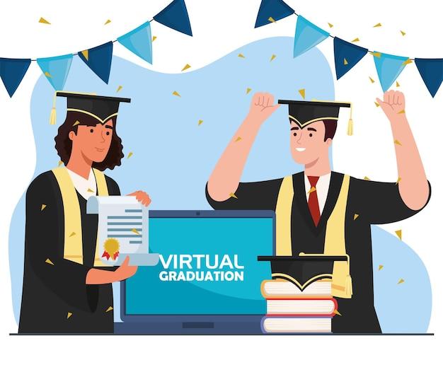 Studenti in laurea virtuale