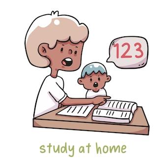 Studia a casa l'apprendimento dei bambini