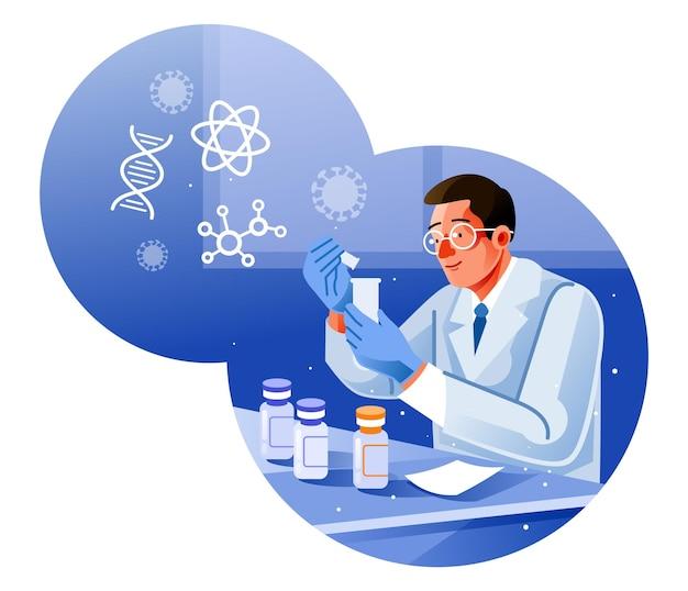 Studio per la produzione di vaccino per proteggere un coronavirus covid-19