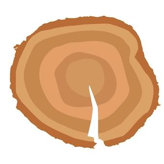 Ceppo. museruola. puoi determinare l'età dell'albero. illustrazione di vettore.