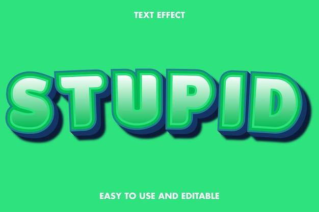 Stupido effetto di testo. carattere modificabile.