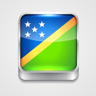 Icona bandiera di stile delle isole salomone