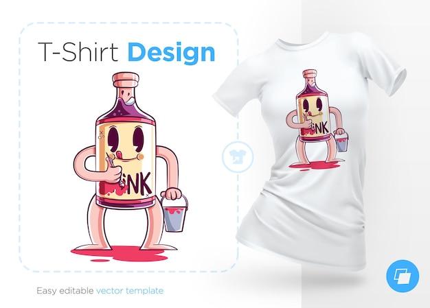 Elegante bottiglia di alcol stampa su t-shirt felpe custodie per souvenir di telefoni cellulari