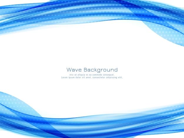Elegante elegante onda blu disegno vettoriale di sfondo