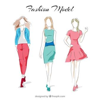 Modelli d'alta moda Vettore Premium