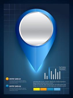Design elegante modello infografica